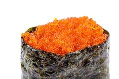 Gunkan-Sushi di Tobiko con uovo di pesce dei pesci Fotografie Stock