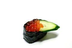 Gunkan Sushi Ikura im weißen #2 Lizenzfreie Stockbilder