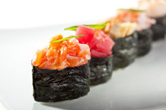 Gunkan Sushi Set Royalty Free Stock Photo