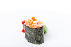 Gunkan sushi stuffed with salmon. Stock Images