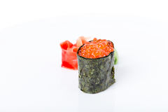 Free Gunkan Sushi Stuffed With Red Salmon Caviar. Royalty Free Stock Images - 90861109
