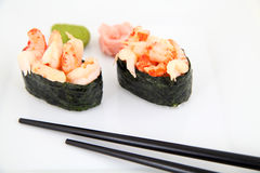 Gunkan Sushi. Traditional japanese food Royalty Free Stock Photos