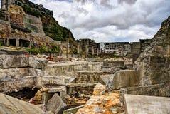 Gunkanjima Foto de archivo libre de regalías