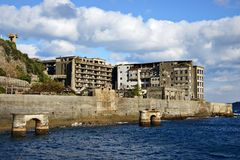 Gunkanjima Royalty Free Stock Photos