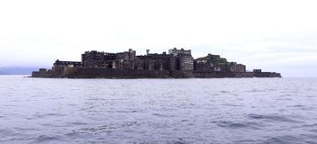 Gunkanjima Battleship Island in Nagasaki Japan Stock Images