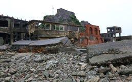 Gunkanjima Battleship Island in Nagasaki Japan Royalty Free Stock Photography