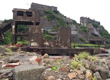 Gunkanjima Battleship Island in Nagasaki Japan Stock Photos