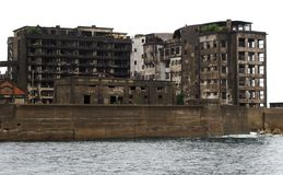 Gunkanjima Battleship Island in Nagasaki Japan. Gunkanjima Also kwown as Hashima or Battleship Island in Nagasaki Japan. is former coal mining island. It is old royalty free stock photo