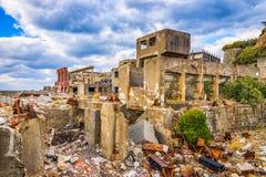 Gunkanjima Deserted Japanese Island Royalty Free Stock Photo