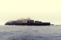 Gunkanjima Ghostly Rendition Royalty Free Stock Image