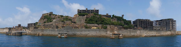 Gunkanjima (Hashima ö) i Nagasaki, Japan fotografering för bildbyråer