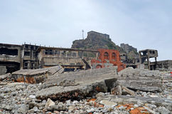 Gunkanjima Royalty Free Stock Photography