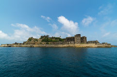 Gunkanjima (Hashima Island) in Nagasaki, Japan. Hashima Island, commonly called Gunkanjima (meaning Battleship Island), is former coal mining island. It's one of Royalty Free Stock Photos