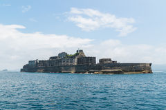 Gunkanjima (Hashima Island) in Nagasaki, Japan. Hashima Island, commonly called Gunkanjima (meaning Battleship Island), is former coal mining island. It's one of Royalty Free Stock Images