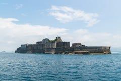 Gunkanjima (Hashima Island) in Nagasaki, Japan Royalty Free Stock Images