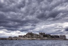 Gunkanjima Island Royalty Free Stock Photography