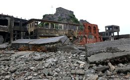 Gunkanjima pancernika wyspa w Nagasaki Japonia Fotografia Royalty Free