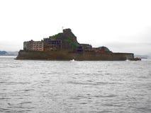 Gunkanjima pancernika wyspa w Nagasaki Japonia Zdjęcia Royalty Free