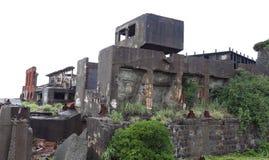 Gunkanjima pancernika wyspa w Nagasaki Japonia Obraz Stock