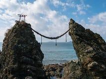 Gunkanjima y Meoto AIT casaron rocas de la pareja Fotografía de archivo libre de regalías