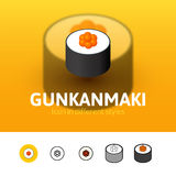 Gunkanmaki icon in different style Stock Image
