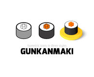 Gunkanmaki icon in different style Royalty Free Stock Photography