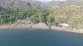 Gunluklu Beach Aerial View stock video