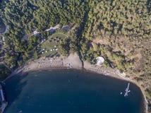 Gunluklu Beach Fethiye. Gunluklu Beach from Fethiye Turkey Royalty Free Stock Photography