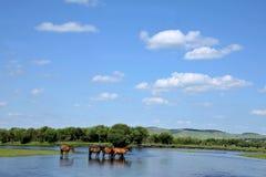 Gunma Yimin River water Stock Image