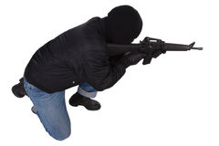 Gunman with M16 rifle Royalty Free Stock Photos