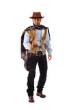 Gunman in the old wild west. On white background royalty free stock photography