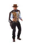 Gunman in the old wild west. On white background stock photo