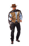 Gunman in the old wild west. On white background Royalty Free Stock Images