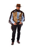 Gunman in the old wild west on white background Royalty Free Stock Photos