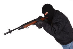Gunman with rifle Royalty Free Stock Images
