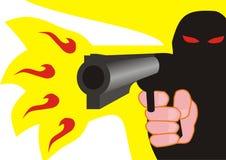 Gunman shooting Stock Photo