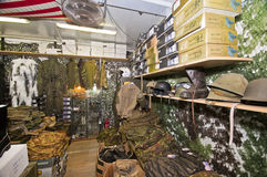 The Gunman Shop. The special shop, for hunters and others, who are fond of shooting. Livorno. Italy Stock Photos
