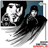 Gunman vector illustration in grunge style royalty free illustration