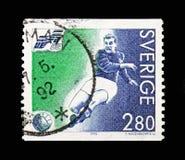 Gunnar Nordahl (Suecia), campeonato europeo del fútbol, Suecia imágenes de archivo libres de regalías