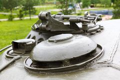 Gunner's hatch of the T-54. And the vent dome Royalty Free Stock Image