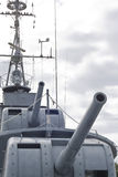 Gunner warship Royalty Free Stock Image