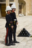 Malta gunners. Gunners await the firing of the midday saluting gun. Valetta, Malta. March 2013 Royalty Free Stock Photos