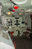 HMS Cavalier Gunnery Control Room royalty free stock photo