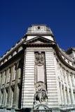 Gunnery statue, Admiralty Arch, London, England. A British landmark. ornate facade with a woman statue, gunnery statue, Admiralty Arch, London, England, UK stock photos