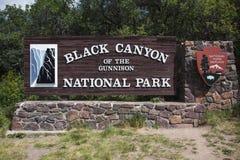 Gunnison国家公园黑峡谷,在Montrose附近,科罗拉多,美国 免版税库存照片