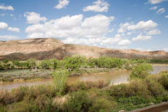 Gunnison River. Valley of the Gunnison River in central western Colorado Stock Photo