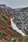 Gunnison River at the bottom of Black Canyon Royalty Free Stock Images