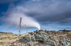 Gunnuhver geotermiskt område Royaltyfri Bild