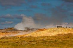 Gunnuhver geotermiskt område. Royaltyfri Bild