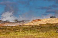Gunnuhver geotermiskt område. Royaltyfri Foto